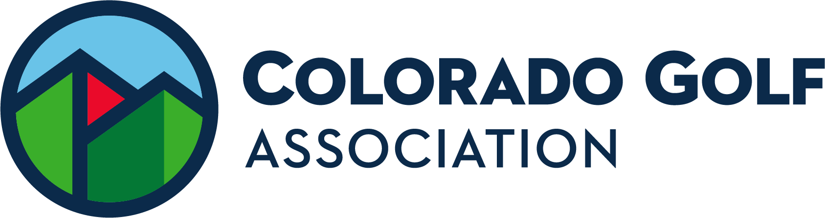 Colorado Golf Association Horizontal Pantone